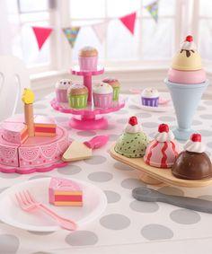 Look what I found on #zulily! Pink Tiered Celebration Cake Toy by KidKraft #zulilyfinds