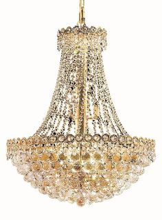Lighting by pecaso ashonte gold chandelier 30l x 24w 27lbs elegant lighting century 12 light chandelier with 4 crystal trims size finish crystal trim chrome aloadofball Image collections