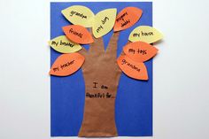 Thankful tree #craft for kids for #Thanksgiving