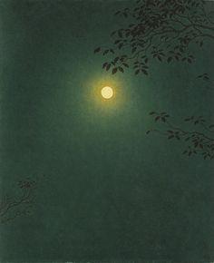 Yajuro Takashima(高島野十郎 Japanese 1890-1975) Mangetsu 満月 1963