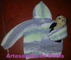 Artesanato de Dudis 2: Casaco de bebé em tricot/ Knitting baby cardigan
