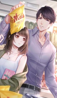 Indulgent Husband and Sweet Wife Cute Couple Art, Anime Love Couple, Manga Couple, Anime Couples Drawings, Anime Couples Manga, Cute Anime Couples, Handsome Anime Guys, Cute Anime Guys, Anime Cupples