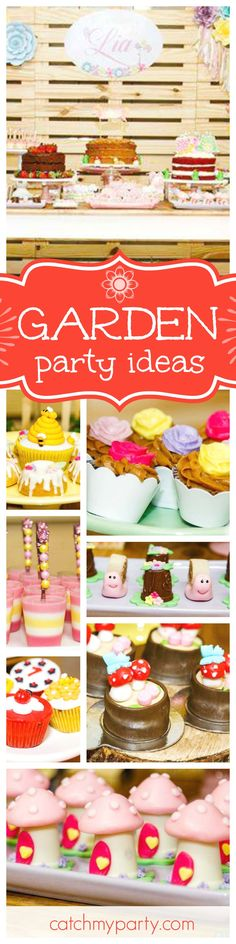 Don't miss this gorgeous 1st birthday garden party. The desserts are so pretty! See more party ideas and share yours at CatchMyParty.com