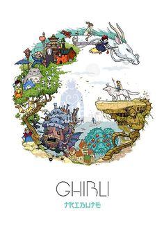 I think this will be the studio ghibli tattoo i wanna get- Mia Vuk Studio Ghibli Films, Art Studio Ghibli, Studio Ghibli Poster, Studio Ghibli Tattoo, Hayao Miyazaki, Fan Art, Manga Anime, Anime Art, Anime Plus