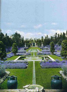 Blue Garden at Beacon Hill, Rhode Island. Photographed in Blue Garden at Beacon Hill, Rhode Island. Photographed in Garden at Beacon Hill, Rhode Island. Blue Garden, Dream Garden, Shade Garden, Garden Whimsy, Formal Garden Design, Herb Garden Design, Formal Gardens, Outdoor Gardens, Landscape Architecture