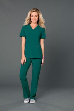 green scrubs - nurse