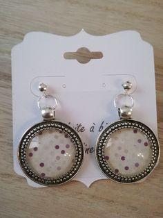 Boucles d'oreille cabochons . Modèle unique : Autres accessoires bijoux par didine45