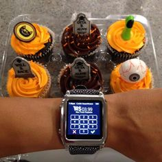 #HappyHalloween from #CASHSmartwatch!  Don't #trick yourself into thinking these little #treats don't add up! Be sure to enter them into your #smartwatch so you're not scared to check your #budget. YUM!  Thanks Steph Warren for the photo!