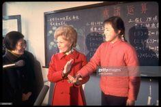 News Photo : First Lady Pat Nixon visiting a school at the... Still Image, Evergreen, Israel, Christmas Sweaters, Presentation, News, Lady, School, Christmas Jumper Dress