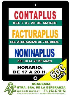¡CURSOS DE CONTABILIDAD! TODOS SON PRESENCIALES. www.acesperanza.com #malaga #diariosur #somosmalaga #miraflores #carlinda
