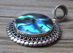 925 sterling silver abalon pendant | pavlos - Jewelry on ArtFire