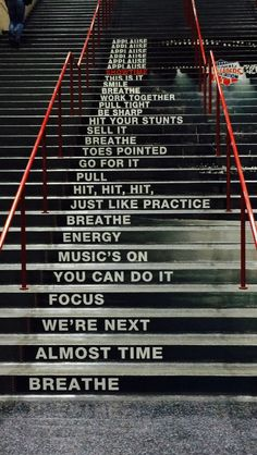 the stairs at NCA in Dallas