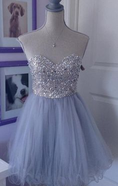 Baby Blue Sweetheart Pretty Cute Girly Homecoming Dresses WF01-459