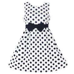 New Fashion Girls Dresses Blue Dot Cotton Sundress Party Birthday Casual Baby Children Clothes Size Ropa de niña, Tank Girl, Girls Blue Dress, Girls Dresses, Dress With Bow, The Dress, Fashion Kids, Womens Fashion, Fashion Trends, Kids Outfits Girls