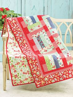 "Make this quick and easy quilt using just 24 precut 2 1/2"" strips. You can also…"