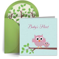 Cute, free digital birth announcements