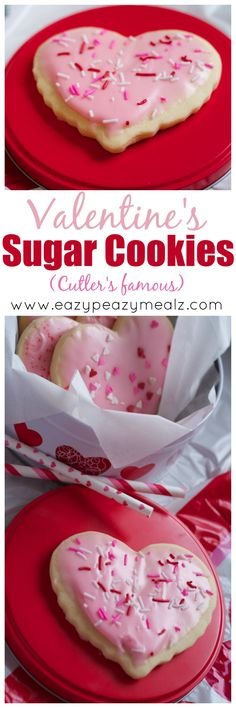 Valentine's Sugar Cookies: Cutler's famous sugar cookies, these pillowy soft cookies are glazed perfectly, and hold their shape like a dream. - Eazy Peazy Mealz