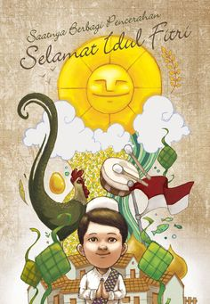 Lebaran Greetings Card by Felix Ferdinand via felixferdinand.com