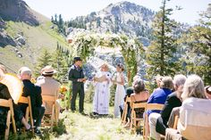 Photography: Larissa Cleveland Photography - larissacleveland.com  Read More: http://www.stylemepretty.com/little-black-book-blog/2014/09/26/colorful-mountain-wedding-at-squaw-valley/