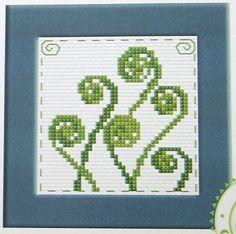 New Zealand Koru Fern - Semco counted cross-stitch card kit Cross Stitch Letters, Cross Stitch Tree, Cross Stitch Bookmarks, Cross Stitch Cards, Cross Stitch Borders, Counted Cross Stitch Kits, Cross Stitch Flowers, Cross Stitch Designs, Cross Stitching