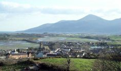 Dundrum, Ireland. This view of Dundrum Bay and the Mourne Mountains is the same as the view from the old Fitzpatrick farm.
