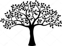 Descargar - Silueta de árbol — Ilustración de stock #53335539