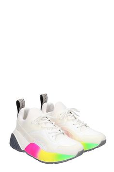 Stella McCartney Stella Mccartney Eclypse Sneakers In White Tech/Synthetic in White Stella Mccartney Sneakers, High Top Sneakers, Sneakers Nike, Air Jordans, Tech, Shopping, Shoes, Fashion, Nike Tennis