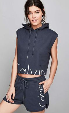 Sporty Spice from Matching Sets = Instant Outfits  Calvin Klein For UO Capsule Drawstring Sweat Short,$79