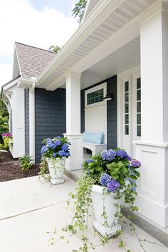 Shade Loving Container Gardening Planters For Front Porch