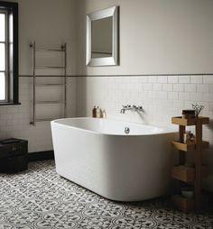 Normandie halv fritstående badekar - Firedearth