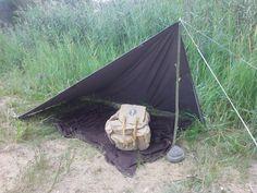 Tent Tarp, Tents, Outdoor Survival, Outdoor Gear, Bush Craft, Rando, Outdoor Crafts, Plein Air, Shelters