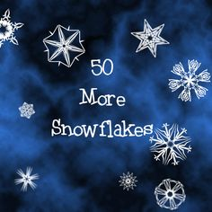 50 More Snowflakes  50 More Snowflake Brushes for Photoshop CS+