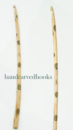 Dainty yellow roses play on the hook, hand carved from oak wood. So much #crochetlove!