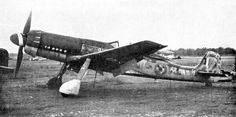 A captured Focke-Wulf Ta 152H fighter in extempore British markings after the war.