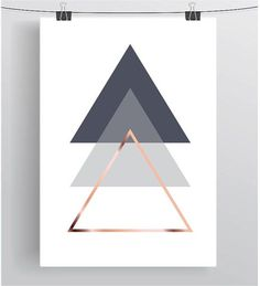 Gray Printable Art Abstract Poster Geometric Print by PrintAvenue