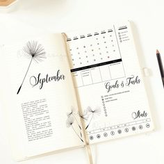 Dandelion Month-to-month Log Printable Bullet Journal Insert Month-to-month Structure Bujo Unfold Purposeful Stickers Months Stickers Bullet Journal Weekly Spread, Planner Bullet Journal, Bullet Journal Inserts, Bullet Journal Page, Bullet Journal Inspo, Journal Pages, Bullet Journals, Monthly Bullet Journal Layout, Bullet Journal October 2018