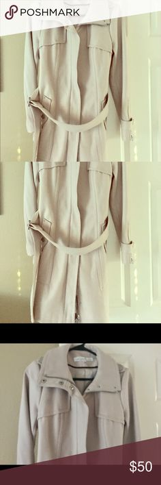 Kenneth Coal Wool Beige Trench-coat Fantastic coat that has only been worn once! Beige Wool Trench Coat with polyester lining. Super soft on the inside and has a great outer shell. Kenneth Cole Jackets & Coats Trench Coats