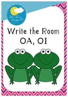 These cute frogs will make writing the room even more fun! This set includes 24 cards for the sound 'oa' and 24 cards for the sound 'oi', along with a recording sheet. If you like this product, you might also like:Smiley Suffixes CardsED 'I Have, Who Has?'Lollipop Words Game
