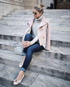 Comfy cashmere and bold blush, opt for a feminine take on your workwear classics a la @styledsnapshots | Get ready-to-shop details with www.LIKEtoKNOW.it | http://liketk.it/2pt0u #liketkit