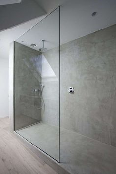 Concrete is becoming a popular option in many interior bathrooms, both because of the utility of the material, and its ability to be painted, stained, and etched. Looking for modern bathroom ideas ? Take a look at my favourite … … Or discover more pins about minimal bathroom on my Pinterest.