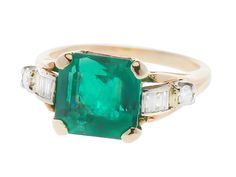 Sophisticated & Breathless - Columbian Emerald Ring