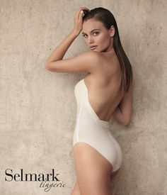 e7b6fa57f650f Body espalda descubierta escotado sin tirantes Selmark Novias - Lenceria  Emi tienda online corseteria bodys sin