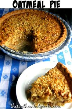 Pie Recipes 97931 Old-fashioned oatmeal pie is delicious and wonderful for any holiday or occasion. Your guest will love this pie and ask you for the recipe. Make it for family anytime for a great treat. Old Fashioned Oats Recipe, Old Fashioned Oatmeal, Old Fashioned Recipes, Pear And Almond Cake, Depression Era Recipes, Pie Crust Recipes, Oatmeal Pie Crust Recipe, Easy Pie Recipes, Yummy Recipes