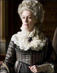 Cranford -- Francesca Annis as Lady Ludlow. I love how she clings to the fashions of her youth.