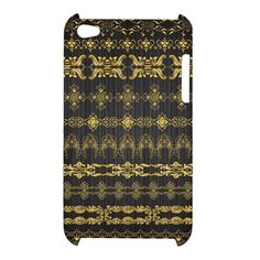 iPod 4 Tribal Gold Ornament Pattern iPod Touch 4 4G 4th Hardshell Case Cover