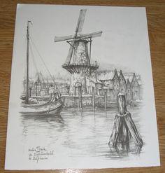 Anton Pieck – De distilleerketel te Delfshaven | Boekenwurm