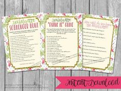 Instant download bachelorette game bundle! These printable flamingo bachelorette party games are the perfect way to get everyone in the mood to celebrate the bride-to-bes last flamingle!