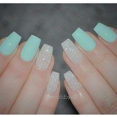 Jade and diamond nails