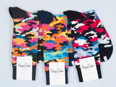 If you fancy yourself a weekend warrior, you don't need to leave your camo at home, you can wear it on your feet, thanks to Happy Socks.