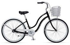 I love my cruiser!!    Giant Simple Three W Womens Cruiser Bike 2012 (Black/White)